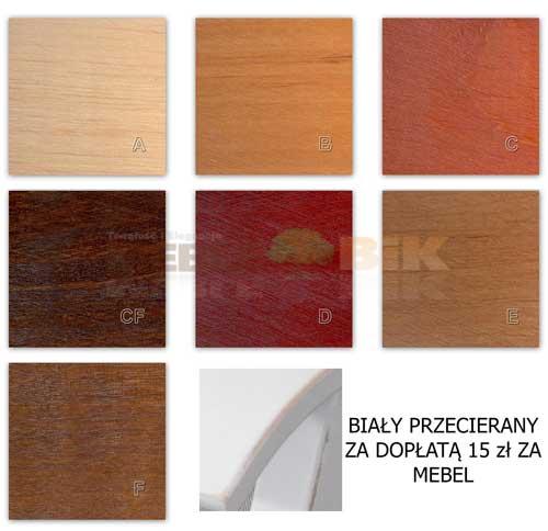 Elementy drewniane wybarwienia TORINO