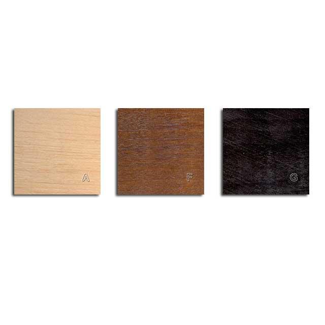 Elementy drewniane wybarwienia